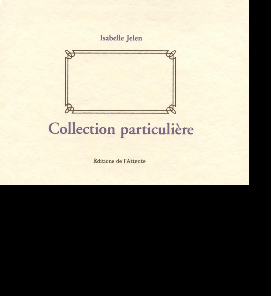 Couverture d'ouvrage: Collection particulière