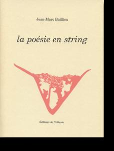 Couverture d'ouvrage: La poésie en string