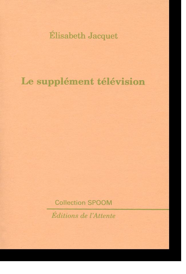 Couverture d'ouvrage: Le supplément télévision