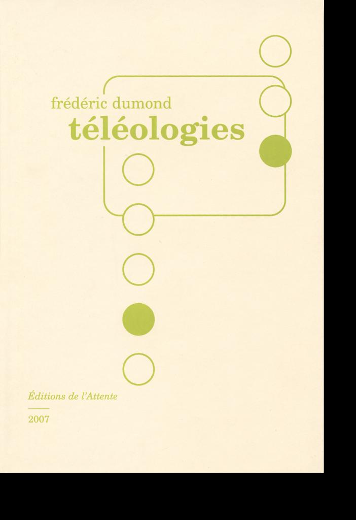 Couverture d'ouvrage: téléologies