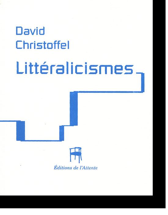Couverture d'ouvrage: Littéralicismes