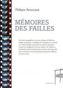 Couverture d'ouvrage: Mémoires des failles