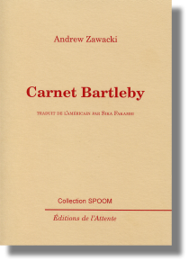 Couverture d'ouvrage : Carnet Bartleby