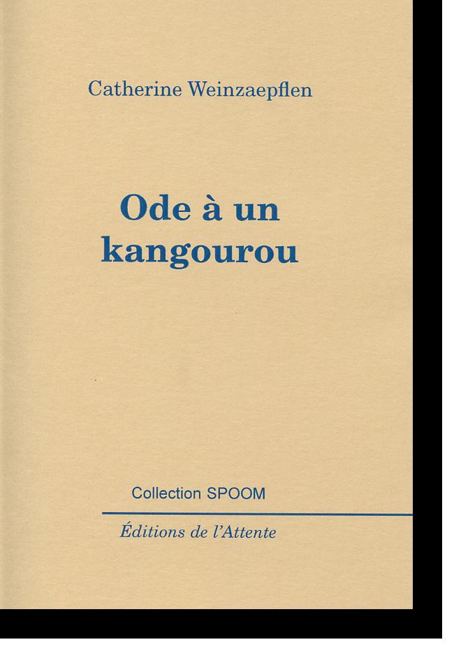 Couverture d'ouvrage: Ode à un kangourou