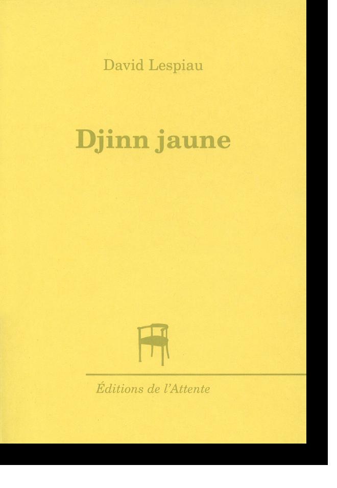 Couverture d'ouvrage: Djinn jaune