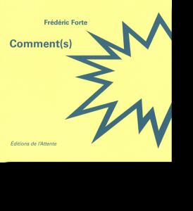 Couverture d'ouvrage: Comment(s)