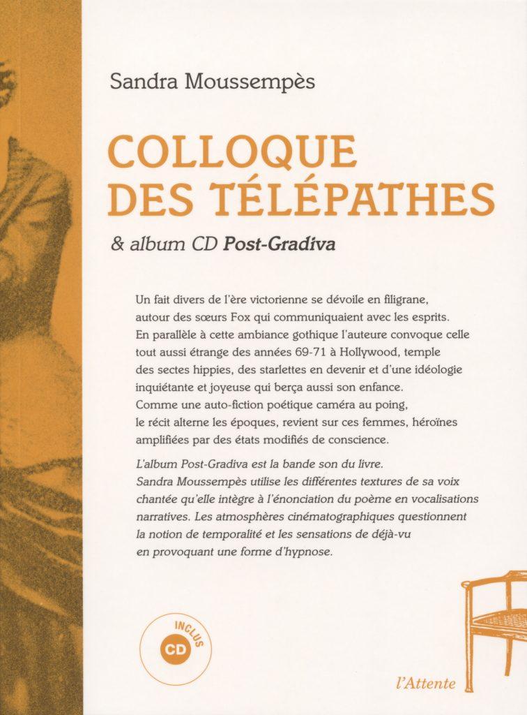 Couverture d'ouvrage: Colloque des télépathes