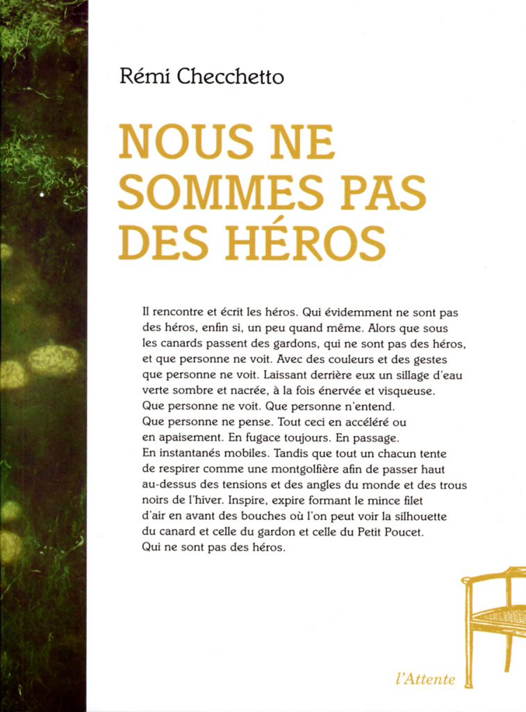 Couverture d'ouvrage: Nous ne sommes pas des héros