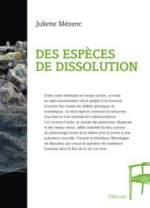 Couverture d'ouvrage: Des espèces de dissolution