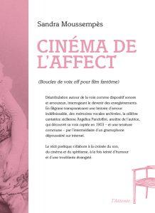 Couverture d'ouvrage: Cinéma de l'affect